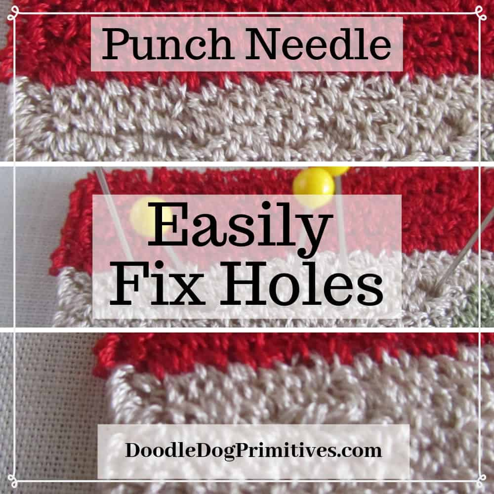 Fix Holes in Punch Needle