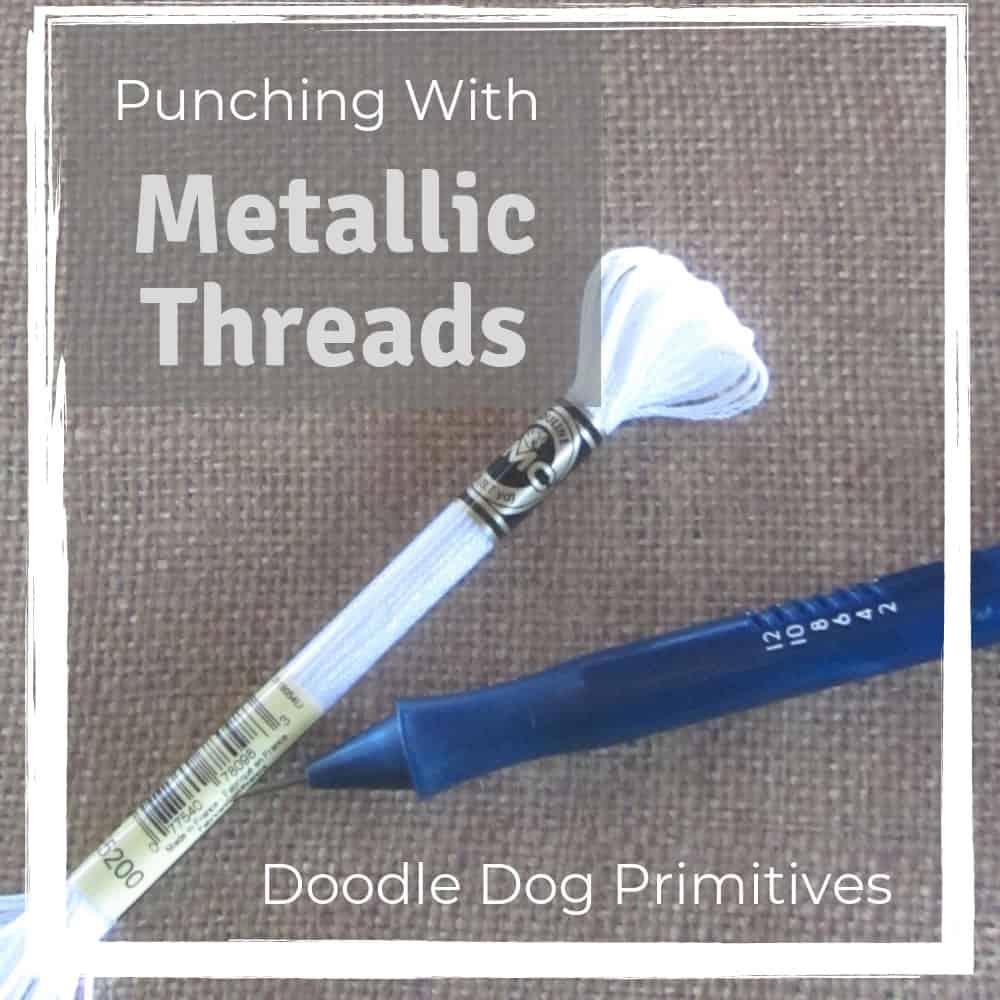 Punching with Metallic Threads