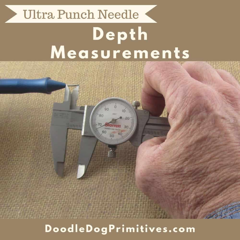 Punching depth measurements of ultra punch needle