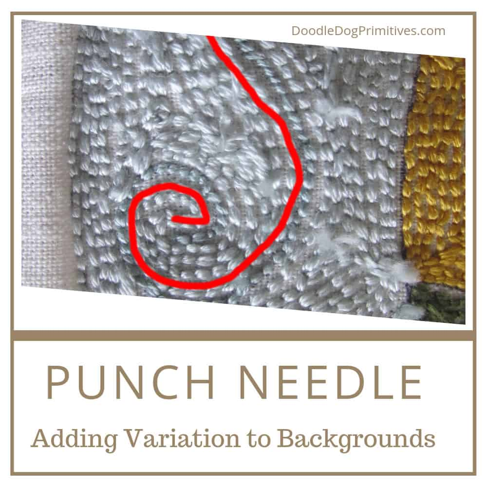 Adding variation to your punch needle background