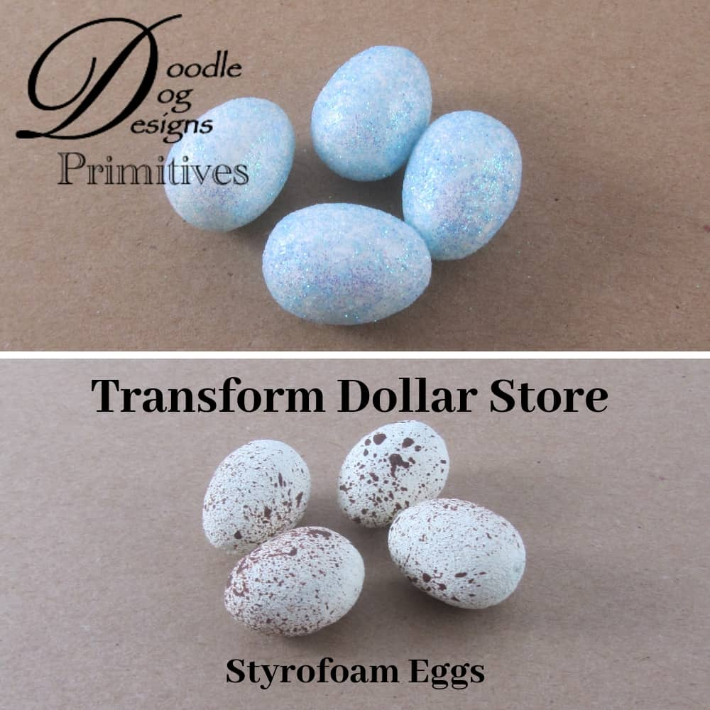 Here's how I painted dollar store eggs to create a primitive look