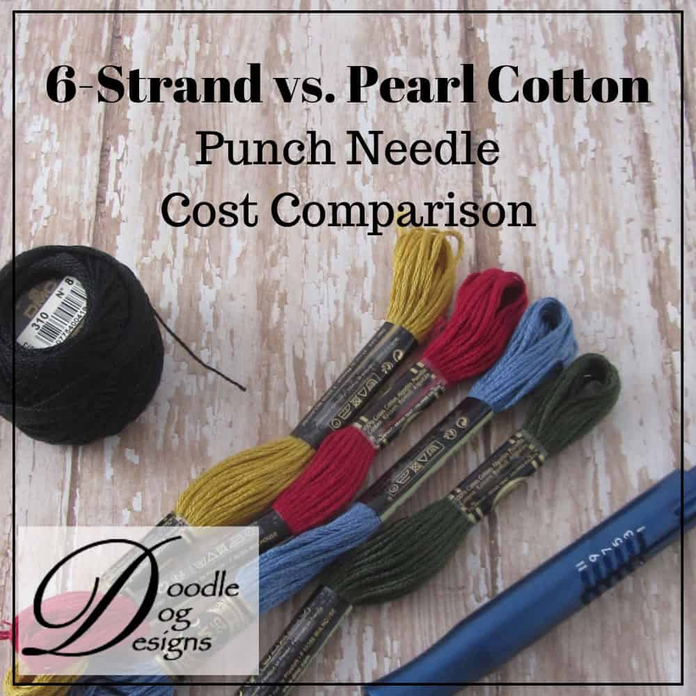 Cost Comparison - punch needle threads
