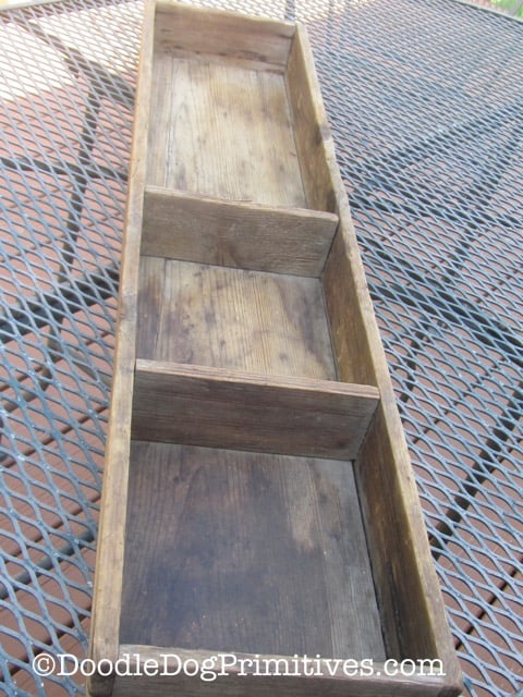 Antique wooden Box before