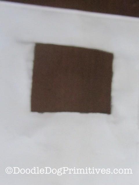 Cut a hole in the photocopy