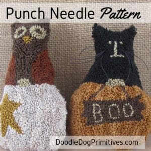 Pumpkin Surprise punch needle pattern