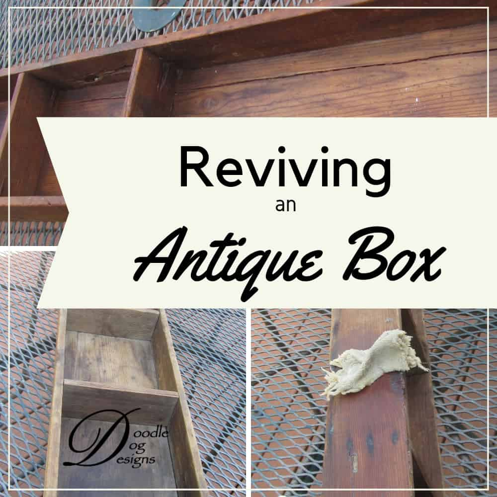Restoring luster to an old wooden box