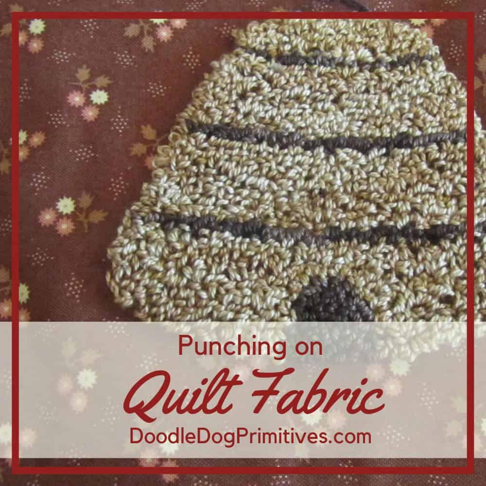 Punching on Quilting Fabrics