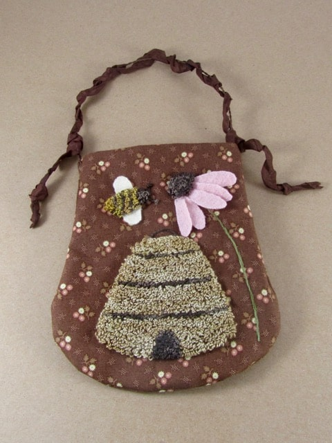 Punch Needle Summer Ditty Bag