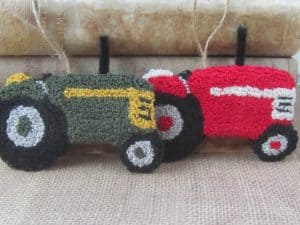 Punch Needle Tractors