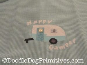 Vintage camper applique
