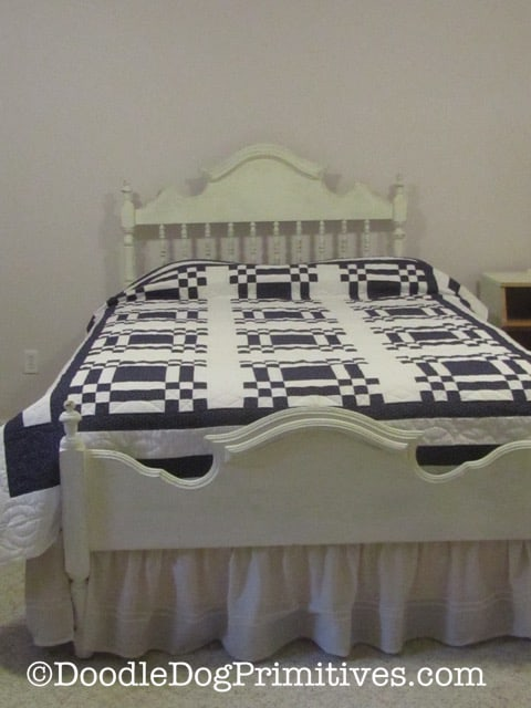 Finished Bed with Bed Skirt