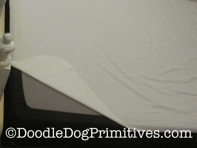 Using a flat sheet for the bed skirt's deck