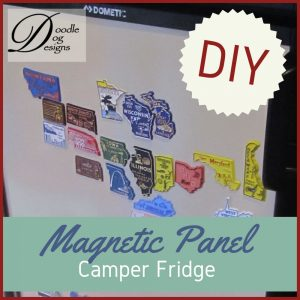 Adding a magnetic front to a camper refrigerator