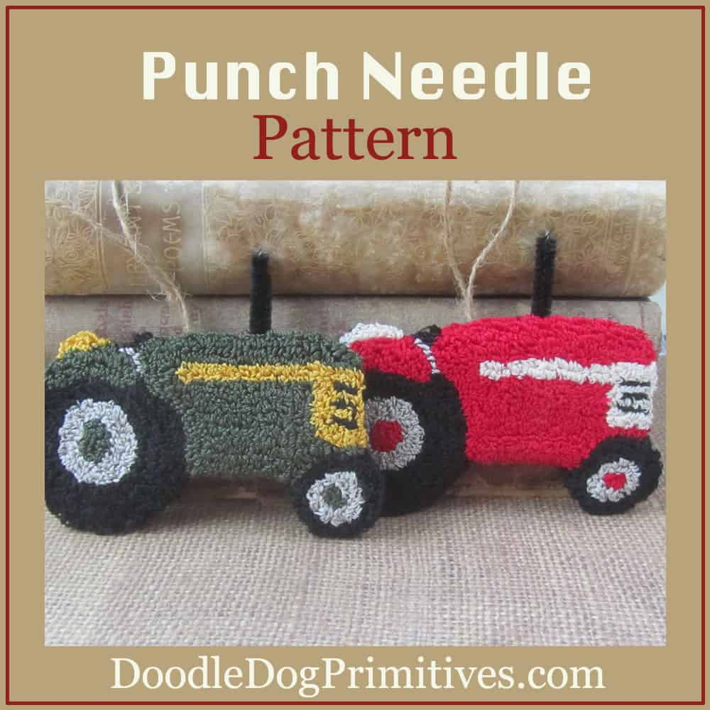 Punch Needle Tractors pattern