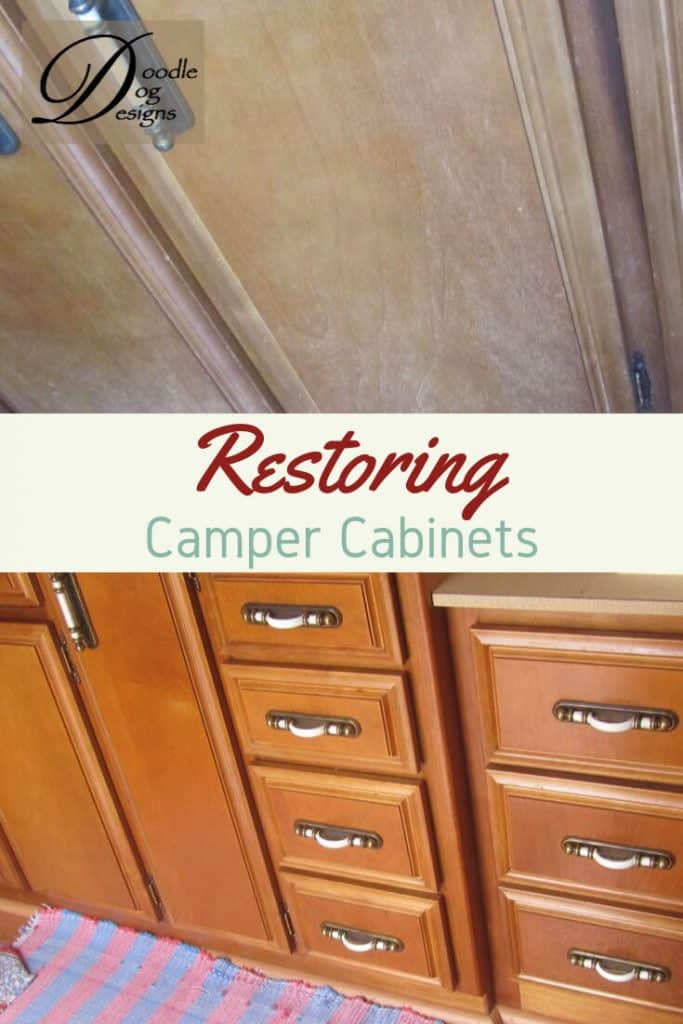 Refinishing our camper's cabinets