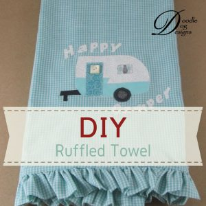 DIY ruffled tea towel