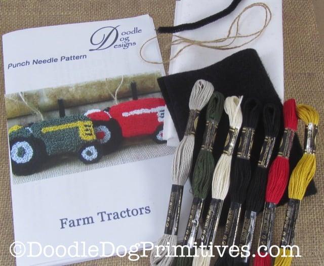 Punch Needle Tractors Kit