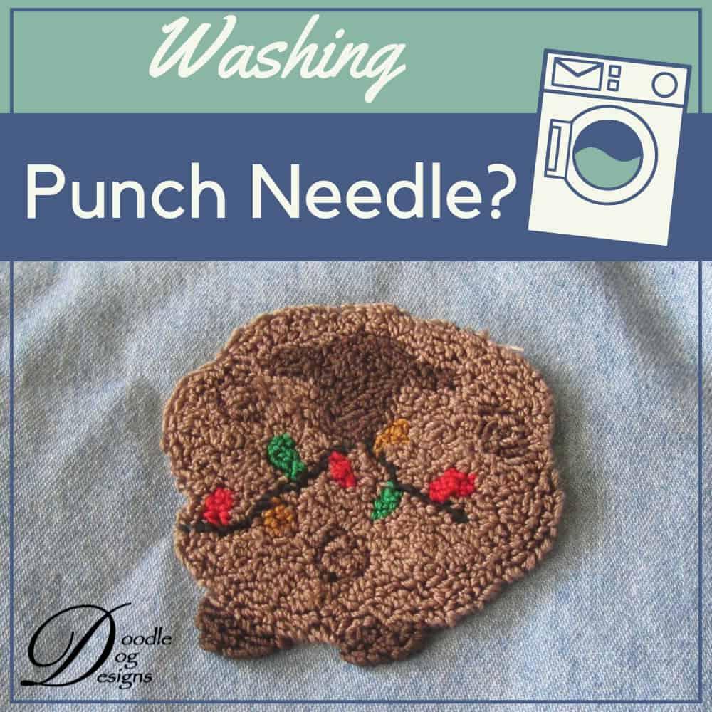 Washing punch needle on clothing