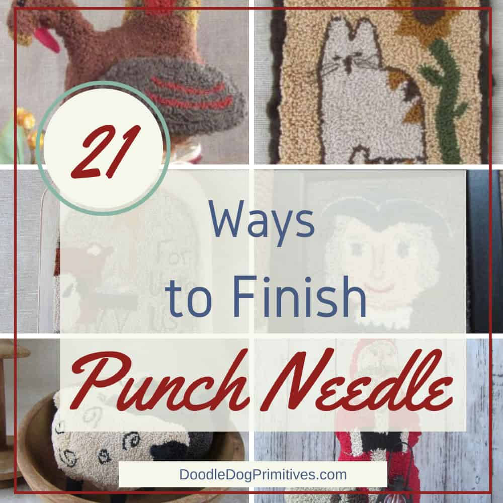 Finishing a Punch Needle Project