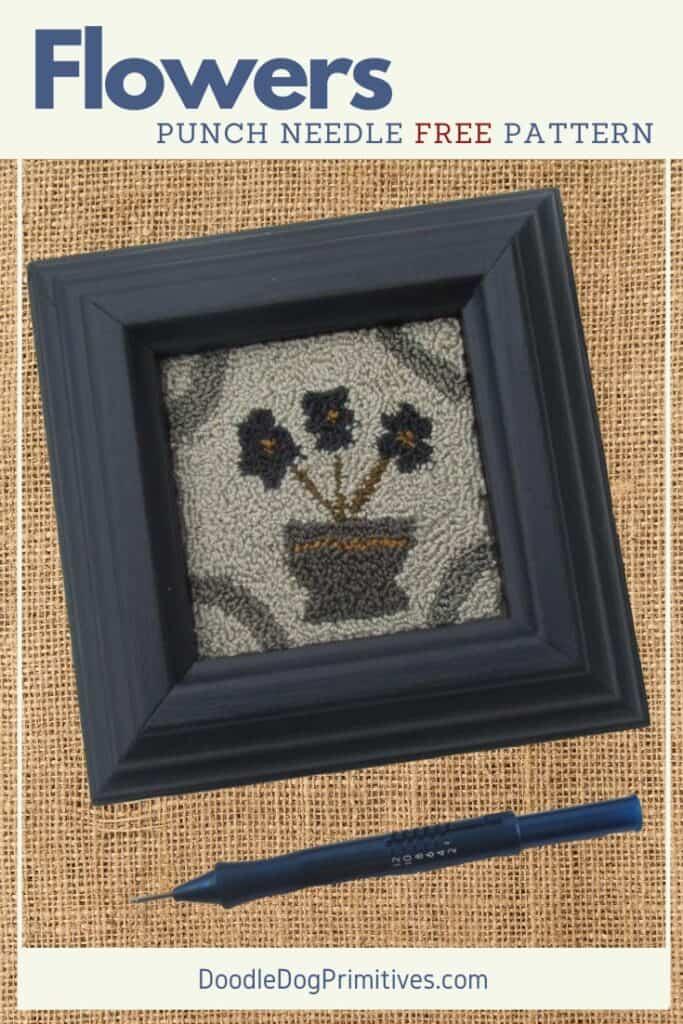 Flowers punch needle pattern