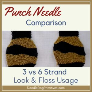 Comparison of 3 Strand & 6 Strand Punch Needle