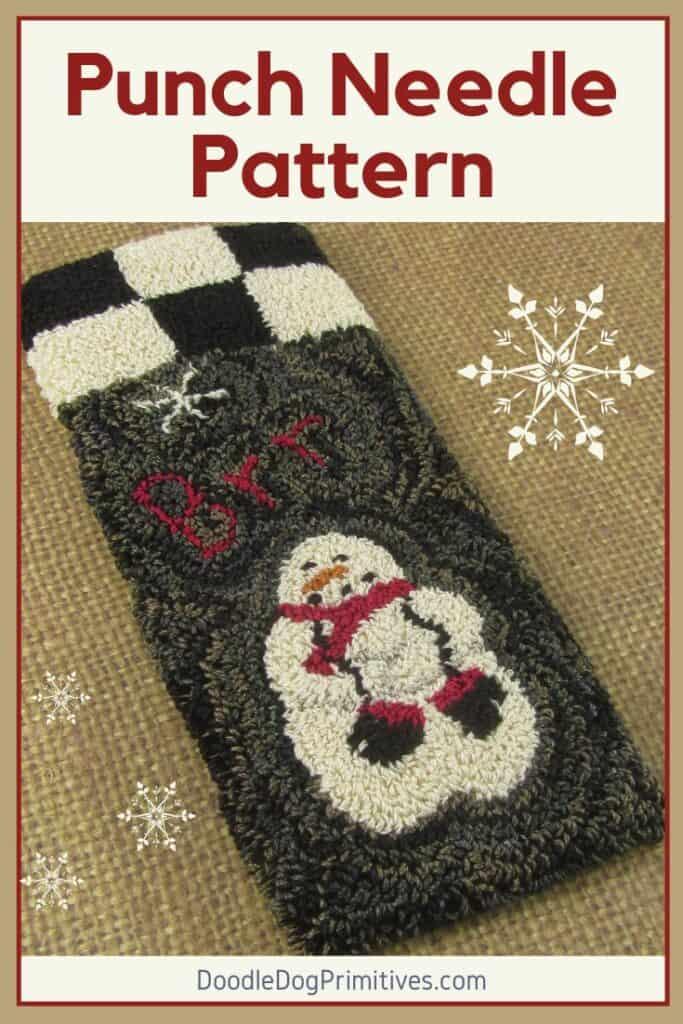 Snowman Punch Needle Pattern
