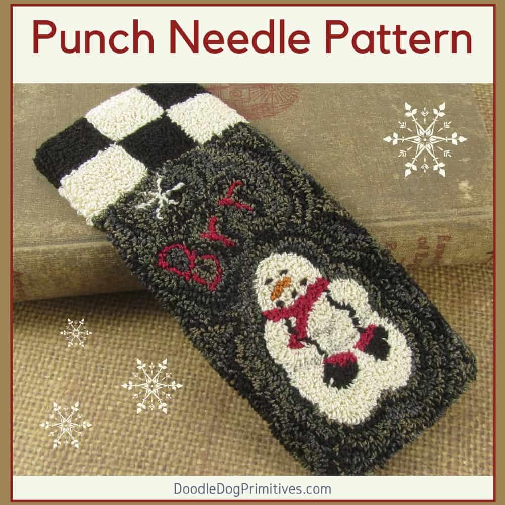 Winter Snowman Punch Needle Pattern