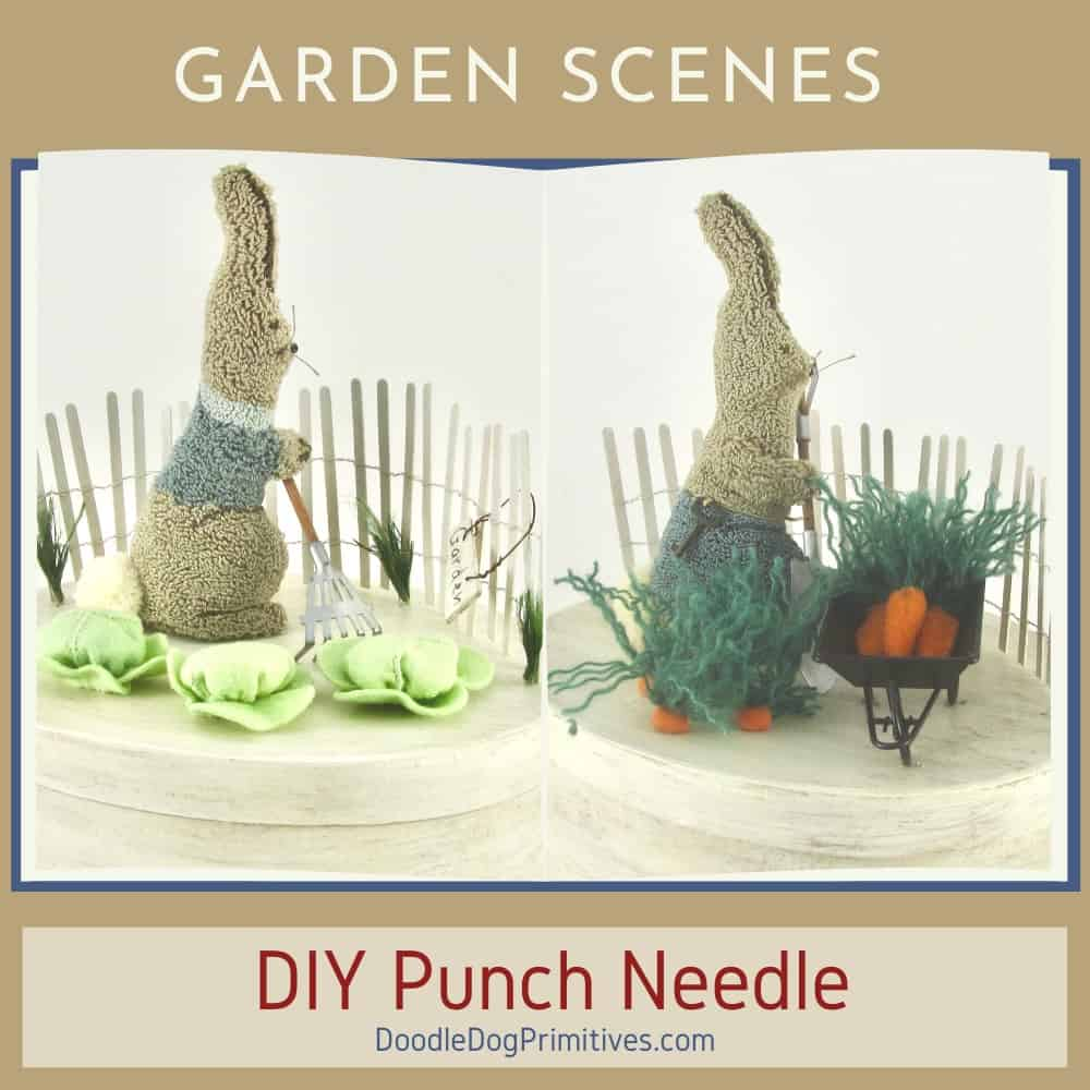 Punch Needle Garden Scenes