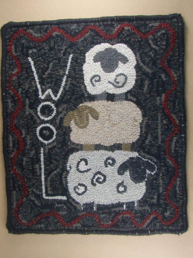 Stacked Sheep Rug HOoking Pattern