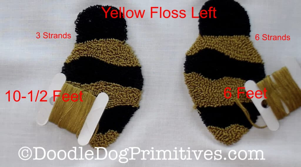 Yellow floss used