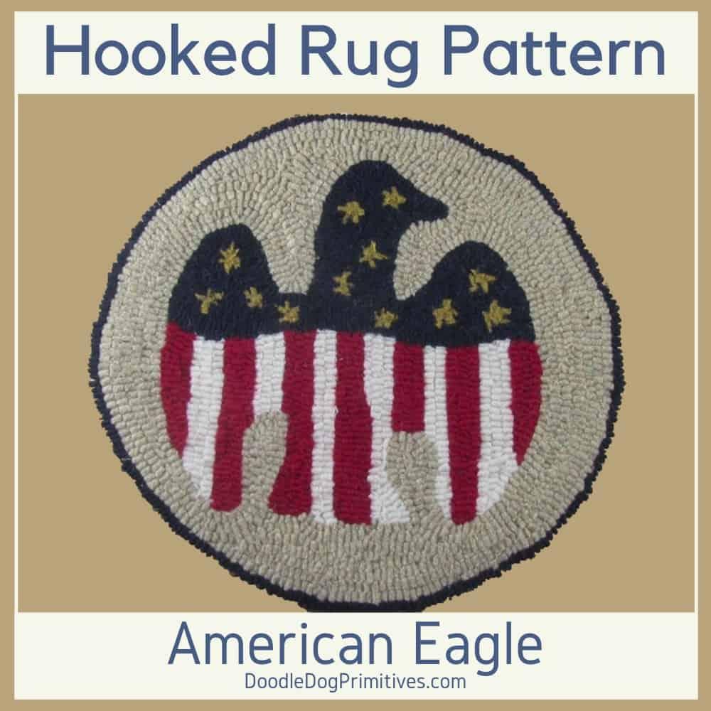 american eagle hooked rug pattern