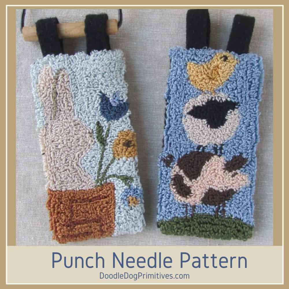 spring punch needle banners