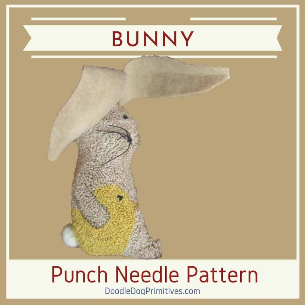 Bedtime Bunny Punch Needle Pattern