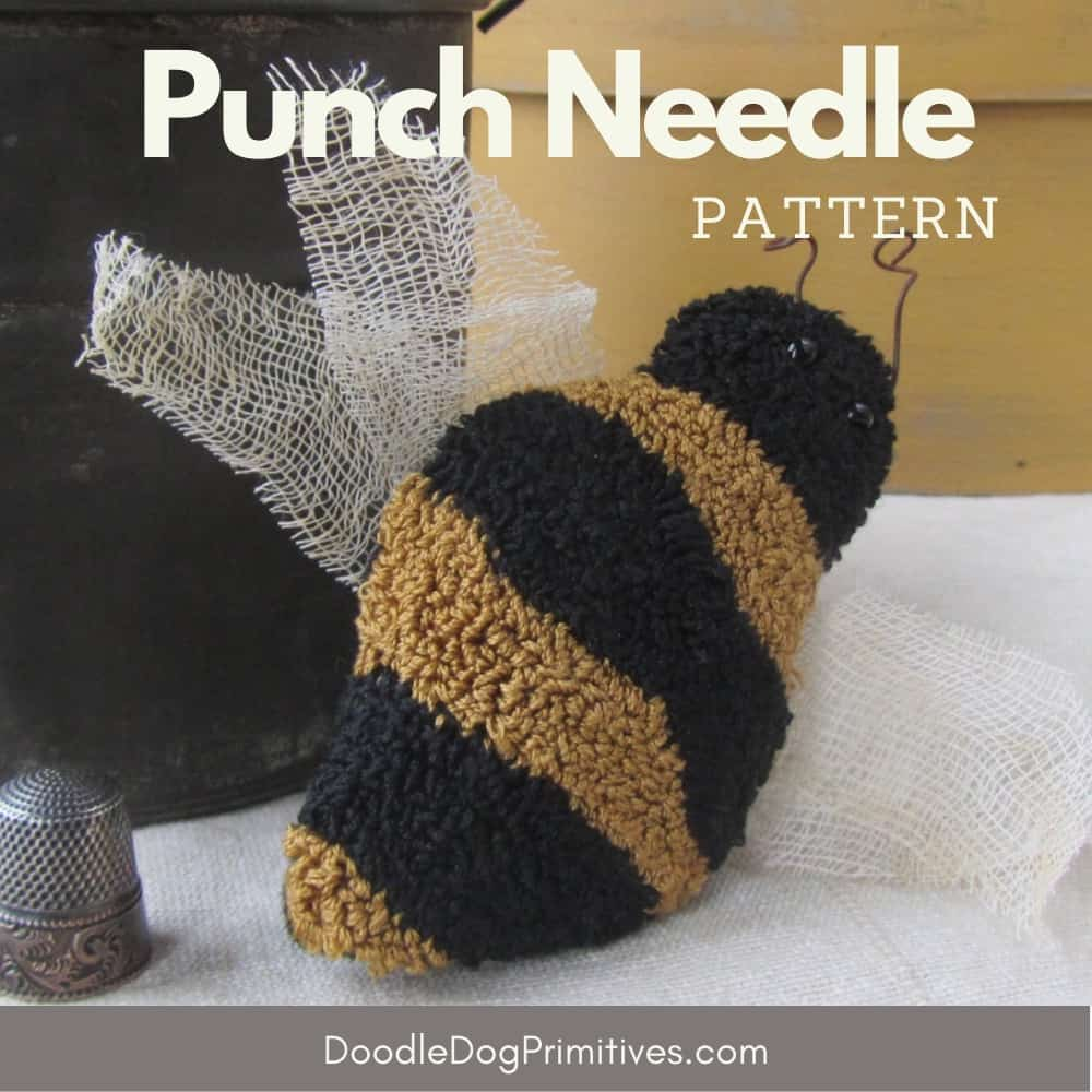 Busy Bee Punch Needle Pattern