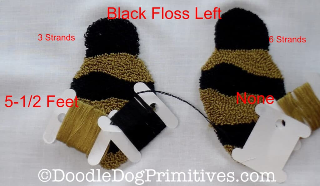 black floss used