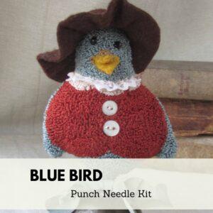 blue bird punch needle kit
