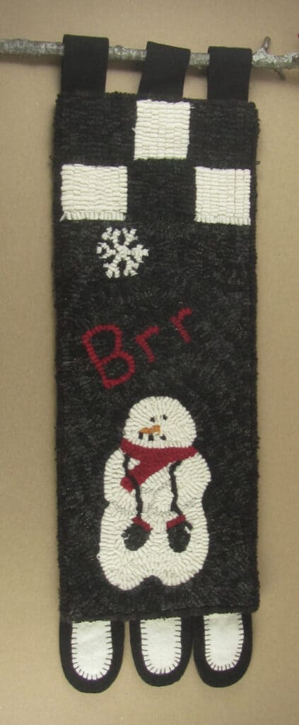 brr it's cold HOoked Rug