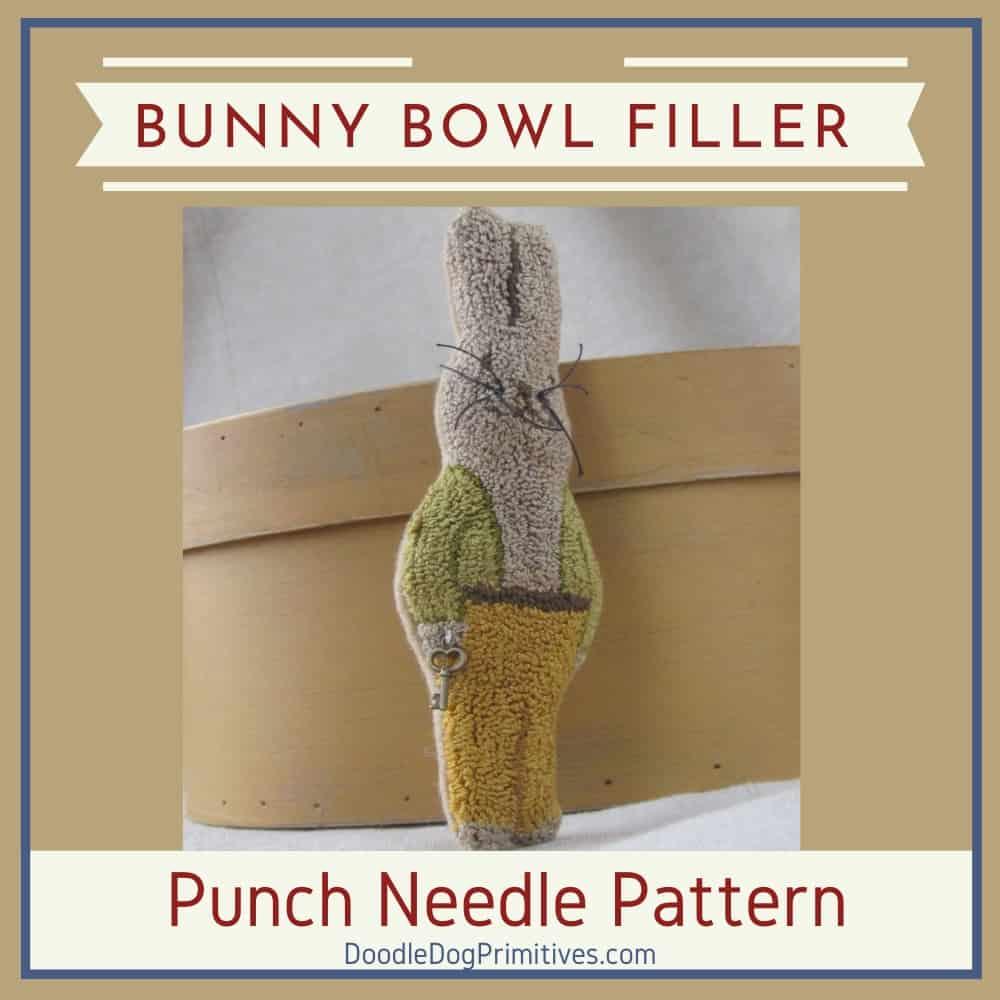 Garden Bunny Punch Needle Pattern