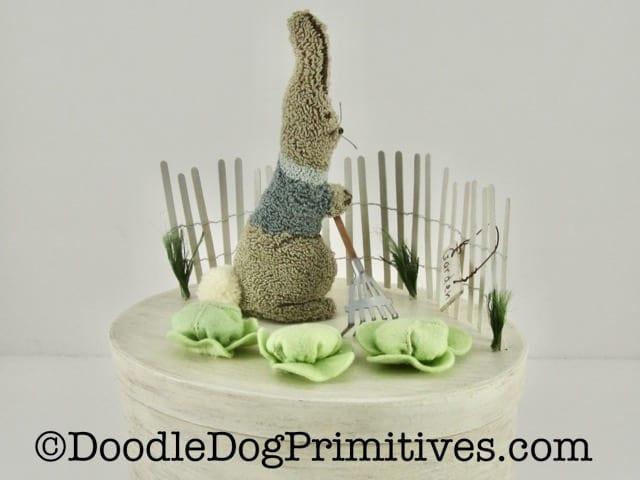 bunny garden scene