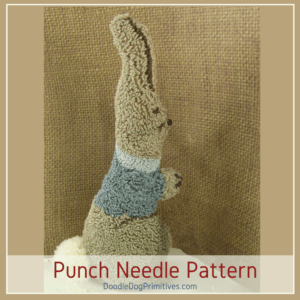 Stand Alone Bunny Punch Needle Pattern