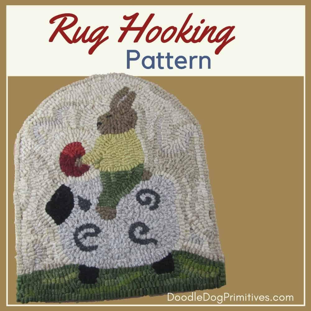 bunny rug hooking pattern