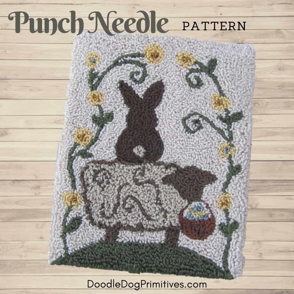 bunny punch needle pattern