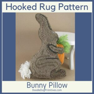 Bunny Hooked Rug Pattern