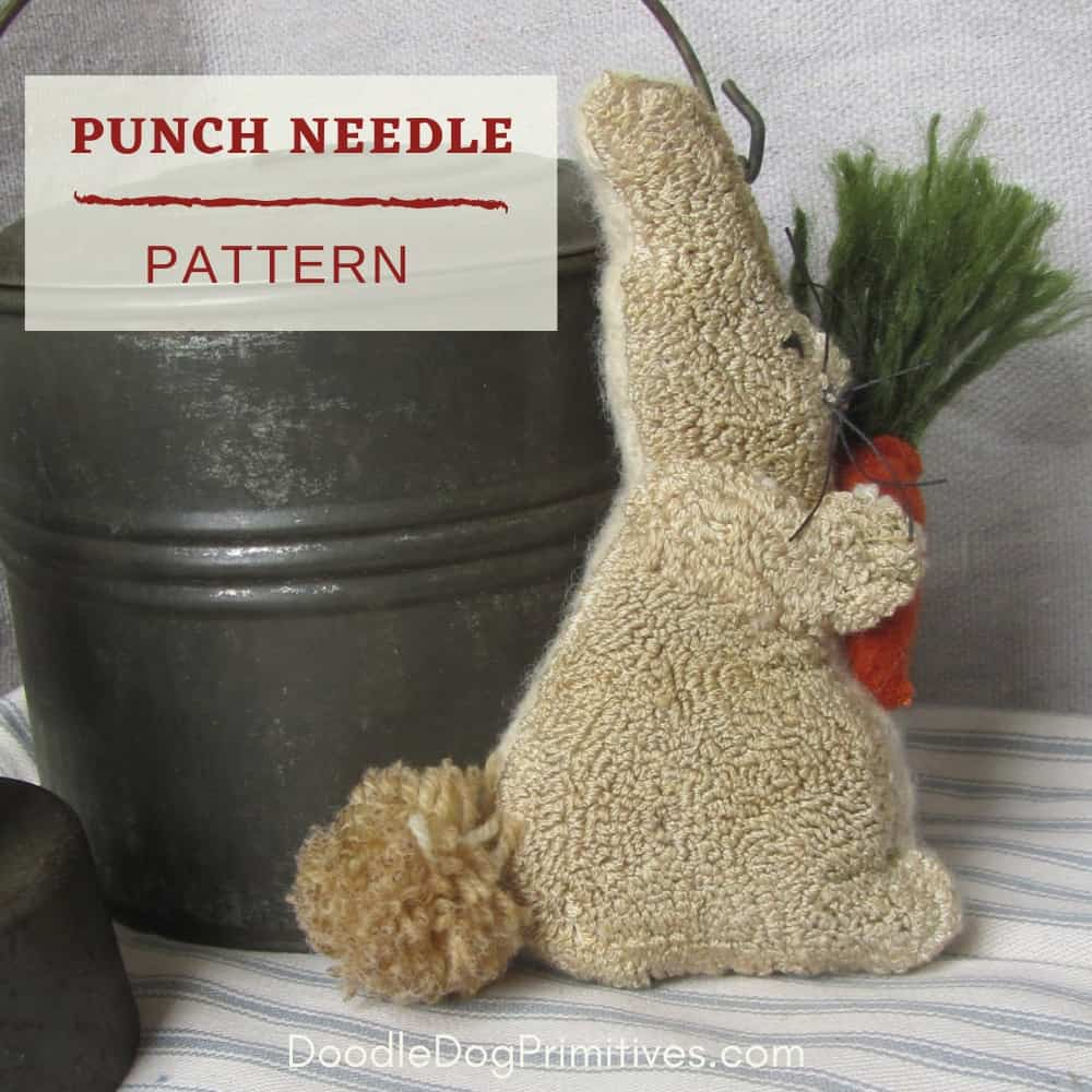 Bunny & Carrot Punch Needle Pattern