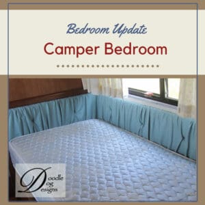Updating vintage camper bedroom