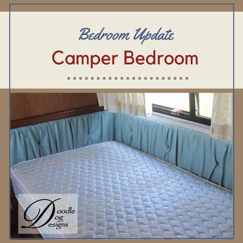 Updating vintage camper bedroom