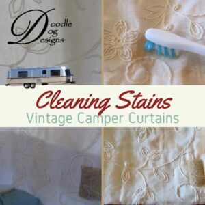 Cleaning Vintage Camper Curtains