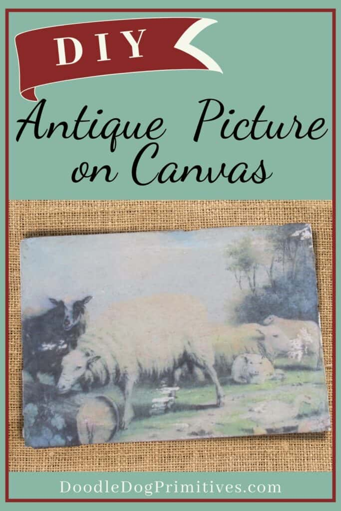 DIY: Transfer an Antique Picture to a Canvas