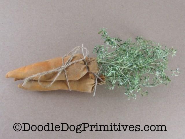 Primitive carrot bundle