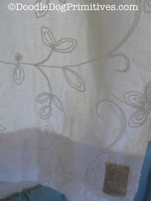Clean vintage curtain